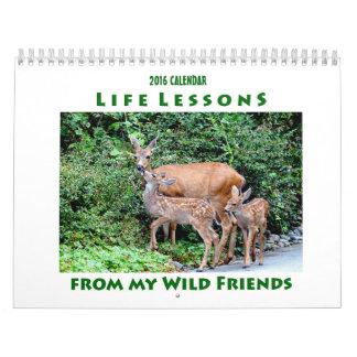 Leben-Lektions-Tier-Kalender 2016 Abreißkalender
