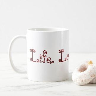 Leben. Liebe. Blogging. Tasse - Rot