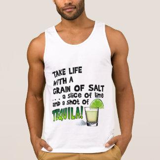 Leben, Limon, Salz, TEQUILA! Cocktail-Spaß Tank Top