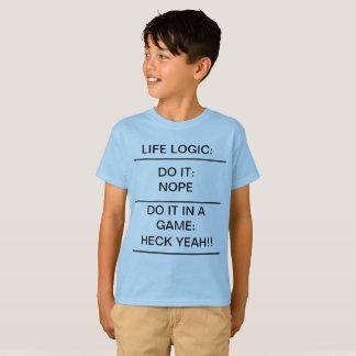 LEBEN-LOGIK lustige KinderT - Shirt-Schule T-Shirt