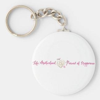 Leben-Mutterschafts-Glück-Logo Schlüsselanhänger