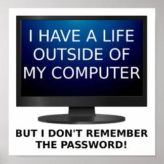Leben-Passwort-lustiges Plakat
