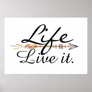 Leben-Plakat Poster