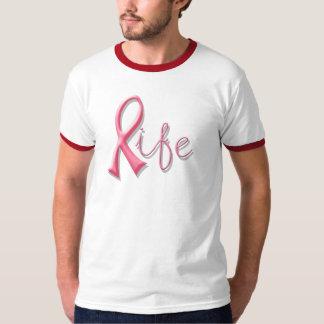 Leben-rosa Band Tshirts