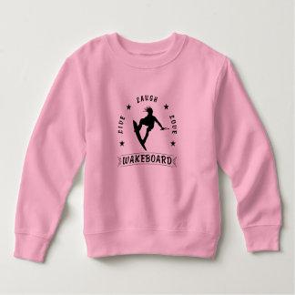 Leben schwarzer Text der Lachen-Liebe WAKEBOARD 1 Sweatshirt