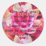 Leben Sie, als ob Sie morgen sterben sollten. Lern Runder Sticker
