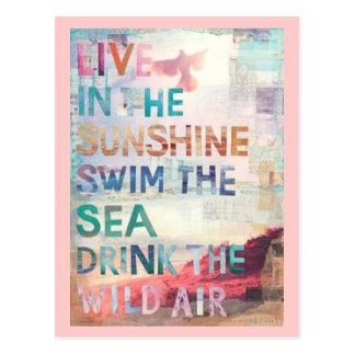 Leben Sie im Sonnenschein Postkarte