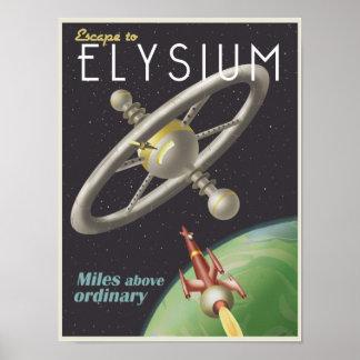 Leben Sie in einer Raumstation Poster