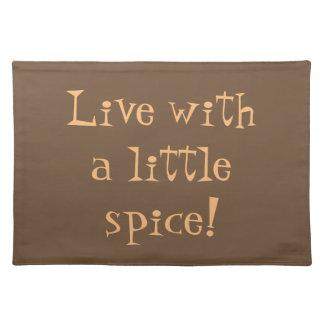Leben Sie mit GewürzbaumwollTischset Tischset