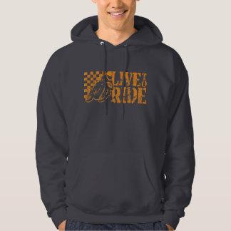 Leben Sie, um zu reiten (Vintage Orange v3) Hoodie