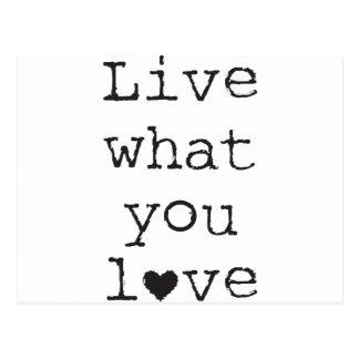 Leben Sie, was Sie Liebe Postkarten