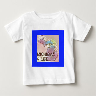 """Leben-"""" Staats-Karten-Stolz-Entwurf """"Michigans 4 Baby T-shirt"""