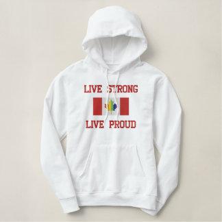 Leben starkes, stolzes Gay Pride-lebhaftsweatshirt Bestickter Hoodie