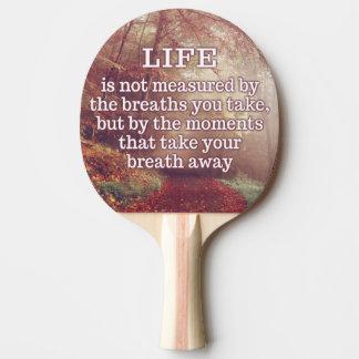 Leben-Zitat-Klingeln pong Paddel Tischtennis Schläger