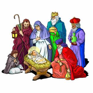Lebende Geburt Christis-Skulptur Freistehende Fotoskulptur