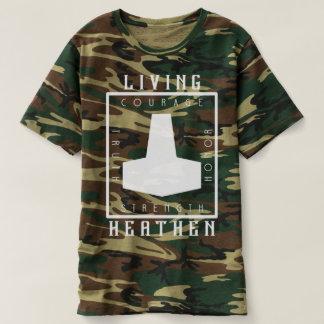Lebender heidnischer Tarnungs-T - Shirt