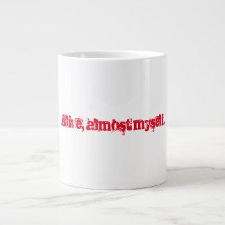 Lebendig, fast selbst große Kaffee-Tasse Jumbo-Tasse