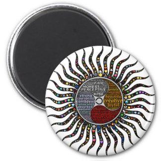 Lebenkreis Runder Magnet 5,7 Cm