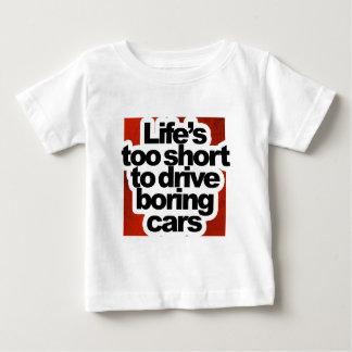 Lebens zu kurz langweilige Autos fahren T Shirts