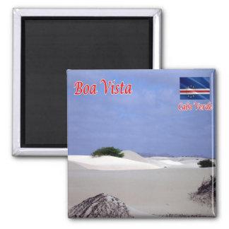 Lebenslauf - Kap-Verde - Boa Vista - Wüste Quadratischer Magnet