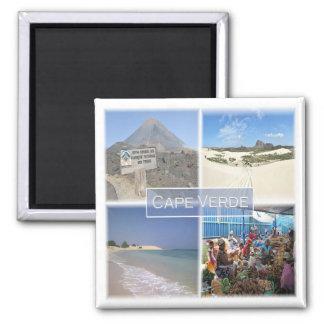 Lebenslauf * Kap-Verde - Mosaik Quadratischer Magnet