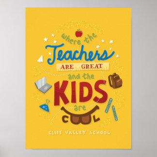 Lebenslauf-Lehrer-Plakat Poster