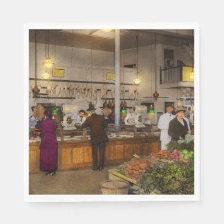 Lebensmittelgeschäft - Metzger - Verkauf auf Papierserviette