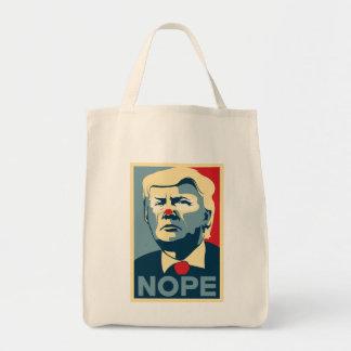 """Lebensmittelgeschäft-Tasche Donald Trump """"NOPE""""! Tragetasche"""