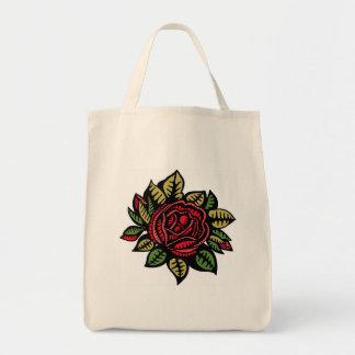 Lebensmittelgeschäft-Tasche mit Rose Tragetasche