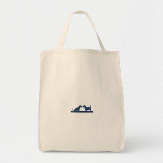 Lebensmittelgeschäft-Tasche mit schottischen Tragetasche