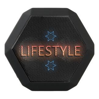 Lebensstilneonzeichen Schwarze Bluetooth Lautsprecher