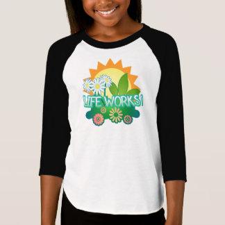 Lebenswerke! Mädchen Raglan T - Shirt