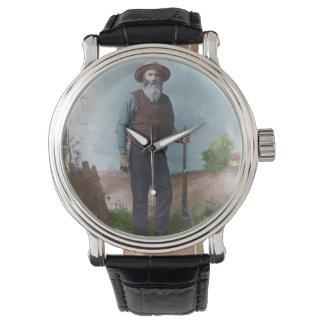 Leber, die Johnston-Armbanduhr isst Uhr