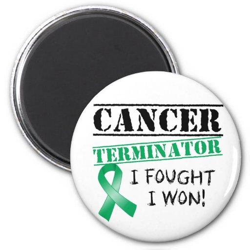 Leber-Krebs-Abschlussprogramm Kühlschrankmagnete