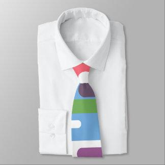 Lebhafte bunte Linie Muster-Krawatte Personalisierte Krawatte