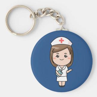 Lebhafte Krankenschwester Keychain Schlüsselanhänger