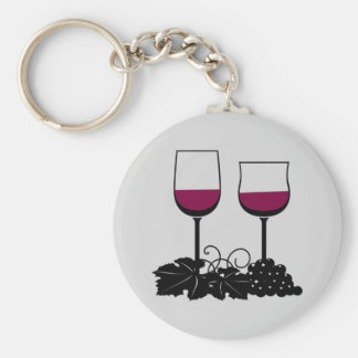 Lebhafte Wein-Gläser Keychain Schlüsselanhänger