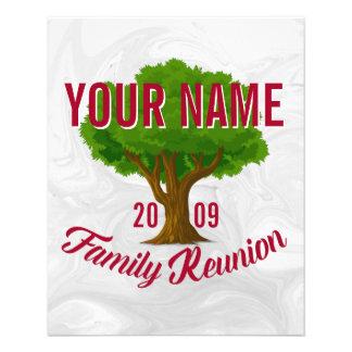 Lebhafter Baum-personalisiertes 11,4 X 14,2 Cm Flyer