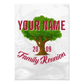 Lebhafter Baum-personalisiertes 12,7 X 17,8 Cm Einladungskarte
