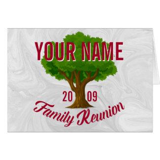 Lebhafter Baum-personalisiertes Mitteilungskarte