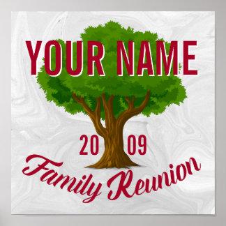 Lebhafter Baum-personalisiertes Poster