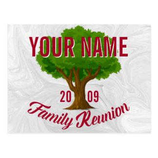 Lebhafter Baum-personalisiertes Postkarten