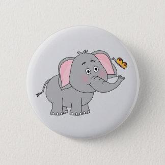 Lebhafter Elefant-Knopf Runder Button 5,1 Cm