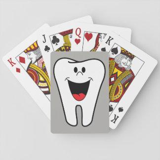 Lebhafter lächelnder Zahn Spielkarten