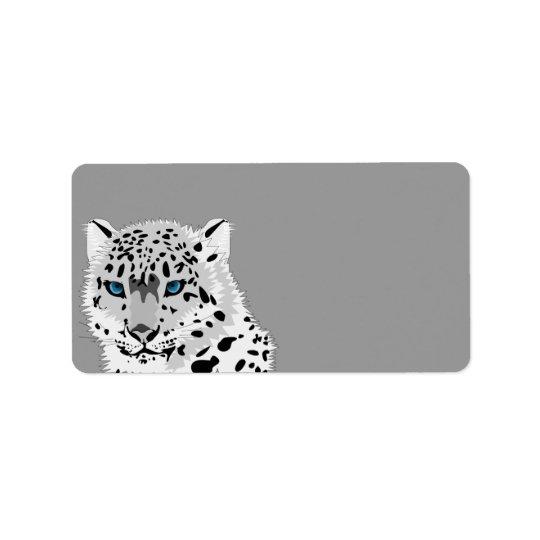 Lebhafter Schnee-Leopard Adressaufkleber