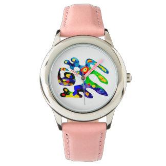 Lebhaftes colourfull lustige Uhr