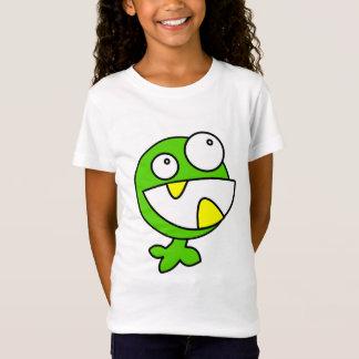 Lebhaftes Geschöpf des grünen lustigen Monsters T-Shirt