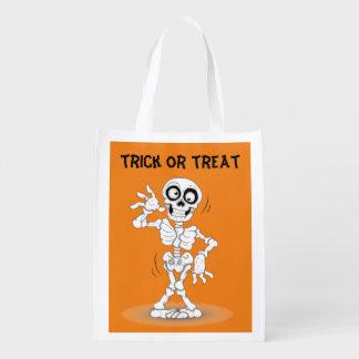 Lebhaftes Halloween-Skelett Wiederverwendbare Einkaufstasche