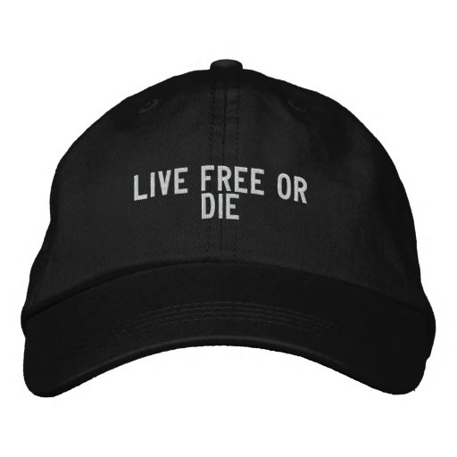 lebhaftfreie oder sterben baseballkappe
