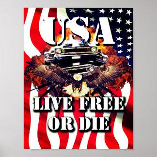 Lebhaftfreies oder die patriotisches poster